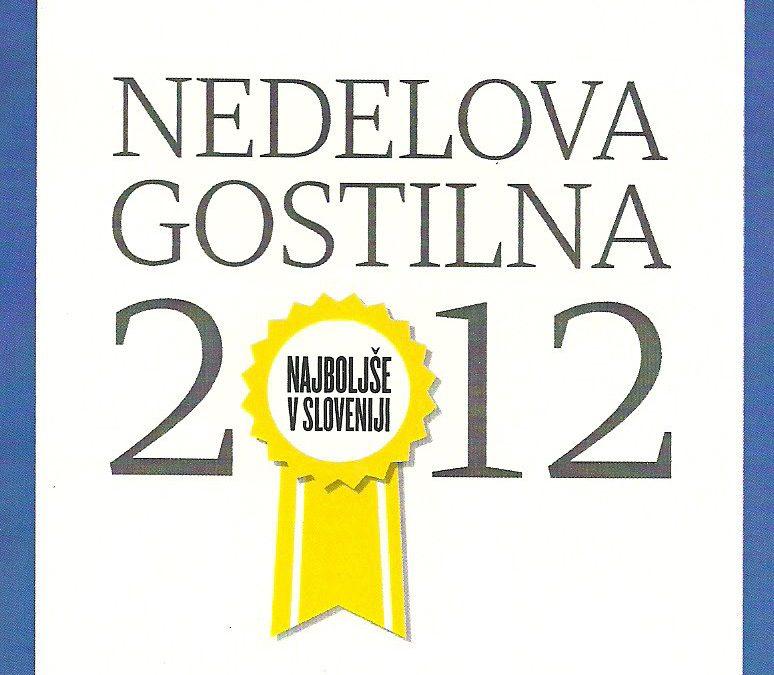 Izbor NeDelovih gostiln 2012